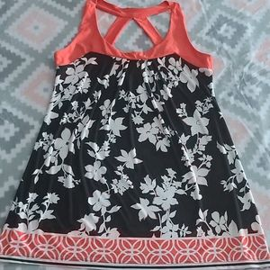 Body Central Floral Racerback Tunic Top